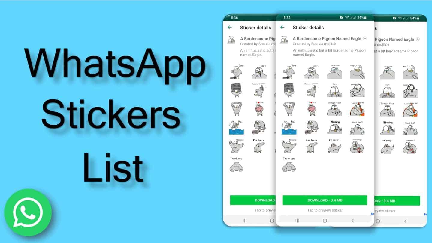Best Whatsapp Stickers List