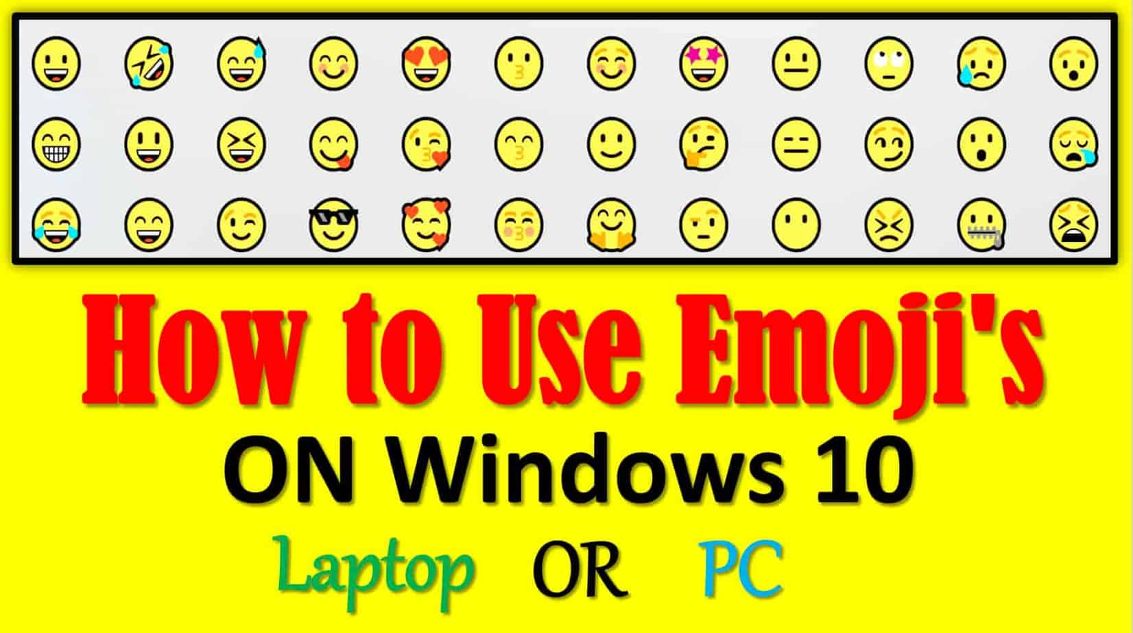 How to use emoji on laptop