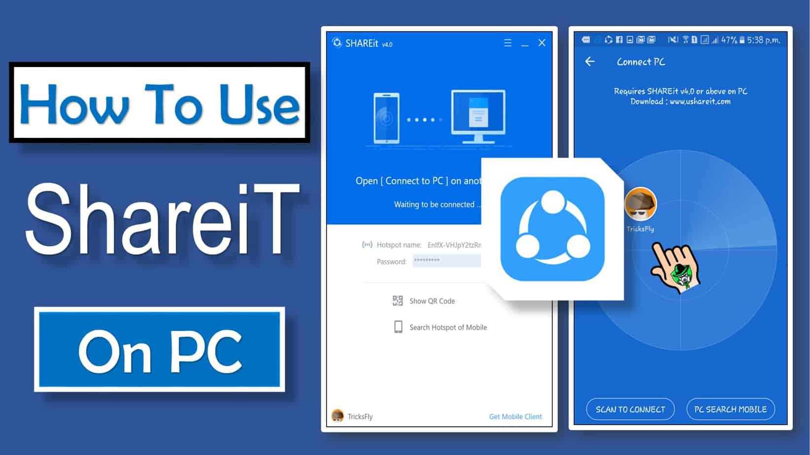 how to use shareit on windows pc or laptop