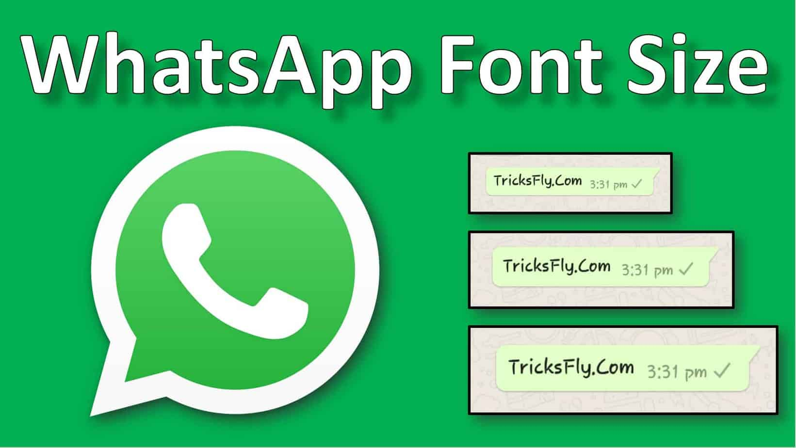 how to change whatsapp font size