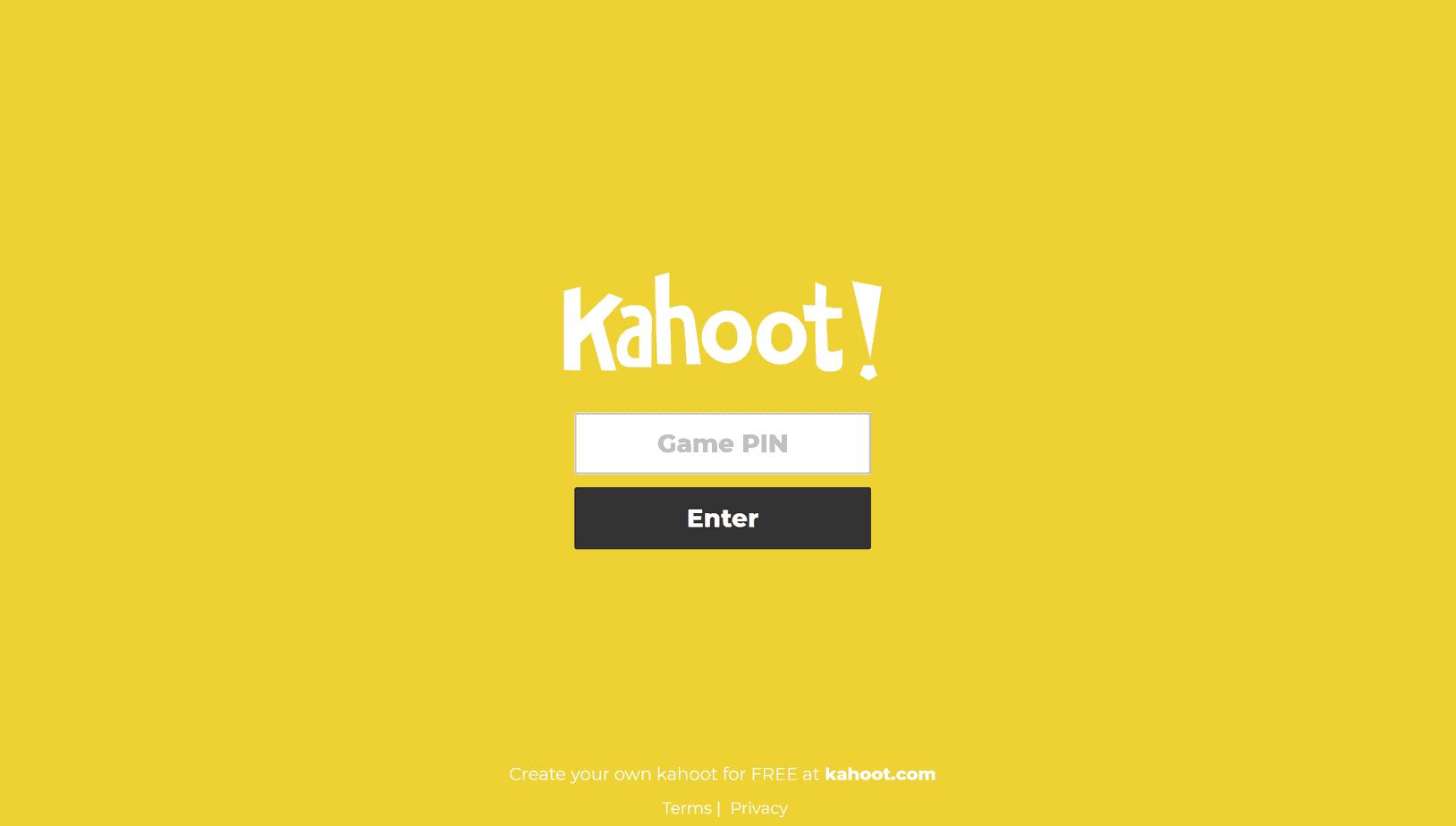 Kahoot Game Pins