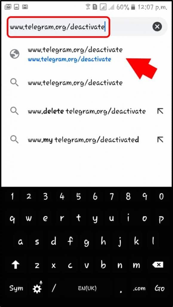 delete telegram account unauthorized