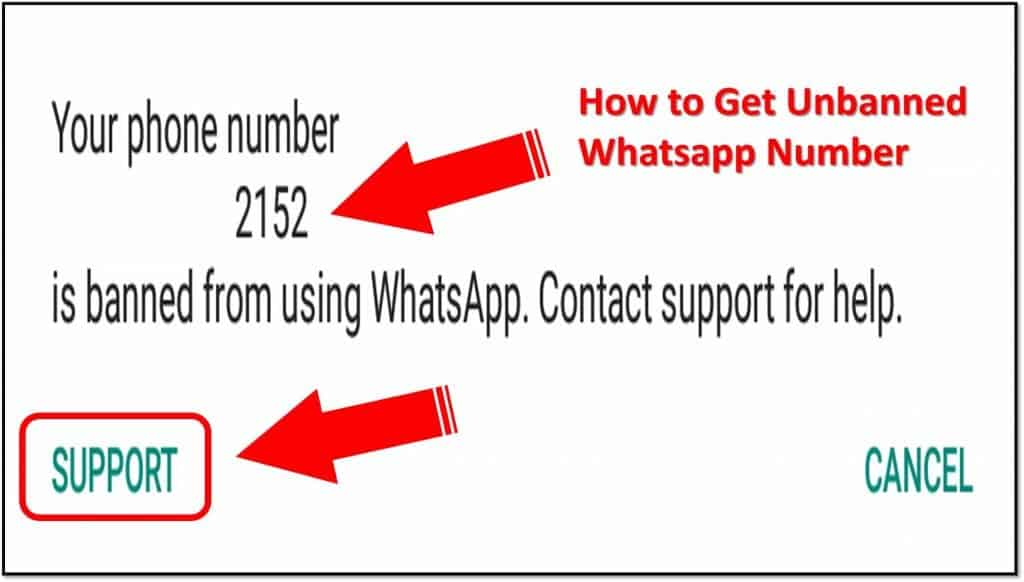 my whatsapp number ban how to get unbanned