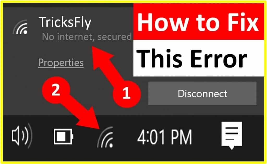 "how to fix ""no internet, secured"" connection error in windows"